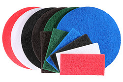 Abrasive floor and hand pads